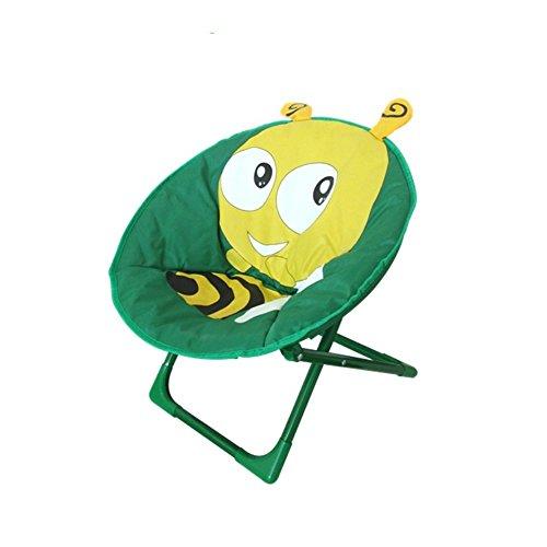 JYSPT Kinder Klappstuhl Baby Stuhl Campingstuhl Schlafzimmer Stuhl für Home Outdoor Strand Camping Stuhl (Biene)