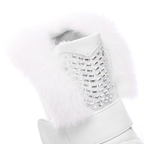 Inverno Donna Boots Sport Compensati Tacchi Uh L'autunno E Per Di Caviglia Caldo 2017 Pellicce Comodità Con Moda Bianco qnxZ1x