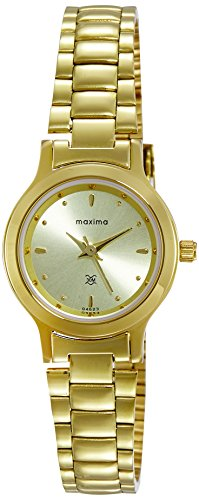 Maxima Analog Gold Dial Women's Watch - 04623CMLY image