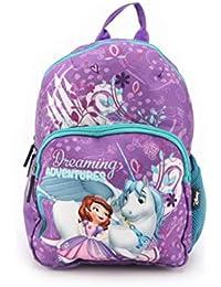 Disney Sofia 12 Inch / 10 Ltrs Polyester School Backpack for Kids (HMHMSB 60536-SF)
