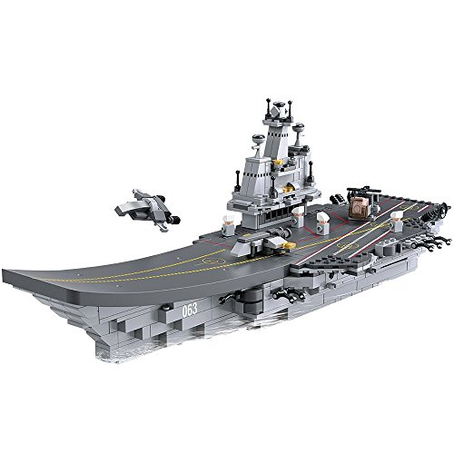 SLUBAN M38-B0537  NAVY. 9 INTO 1. 9 DIFFERENT ITEMS IN ONE DISPLAY BOX. COMBINE THE 9 TO MAKE AIRCRAFT CARRIER