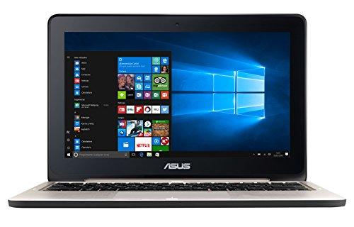 """ASUS TP200SA-FV0171TS - Portátil con pantalla táctil de 11.6"""" HD (Intel Celeron N3060 , RAM de 2 GB, EMMC de 32 GB, Intel HD Graphics, Windows 10 Original) metal plata - Teclado QWERTY Español"""