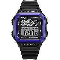 BIBOKAOKE Reloj Deportes Smartwatch Digital Luces LED Fecha Inteligente Relojes Al Aire Libre Deportivo Impermeable