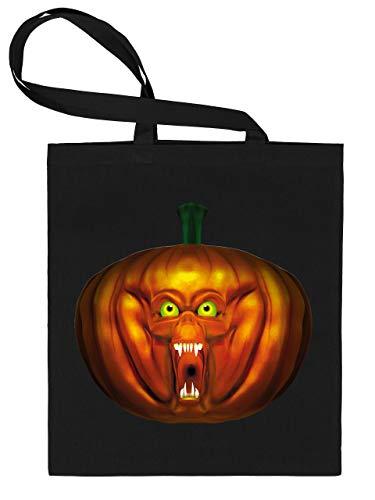 Golebros Halloween Killer Kürbis Pumkin Face 5964 Süßigkeiten Bonbons Tasche Stoffbeutel Tragebeutel Beutel Kinder Schwarz