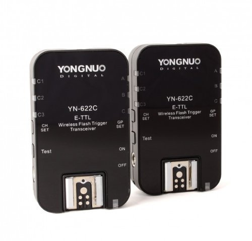 Yongnuo OS00519 YN-622 C HSS High Speed Sync e-TTL II Funk Blitzauslöser für Canon