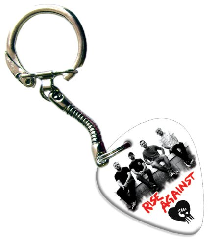 Rise Against Gitarre Pick Schlüsselring Keychain Band Plektron (Rise Bands Against)