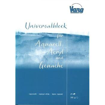 Universalblock Aquarell Acryl Und Gouachemalerei 25 Blatt 300g