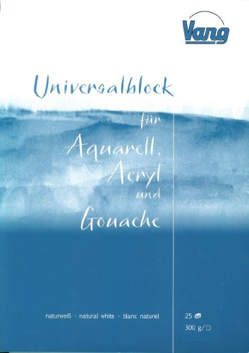Universalblock Aquarell-, Acryl- und Gouachemalerei 25 Blatt 300g 24x34cm