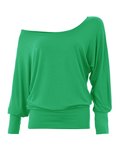 - ample à manches longues chauve-souris Vert - Vert