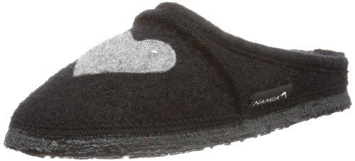 Nanga Herz Mädchen Pantoffeln Schwarz (schwarz 50)