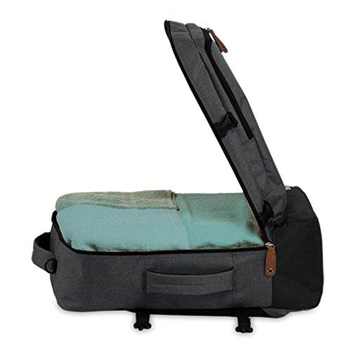 Reiserucksack Cabin Size Bordgepäck Reisetasche gepolstertes Laptop Fach Rucksack Melange Grau grau