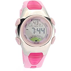 PIXNOR PASNEW PSE-219 Waterproof Children Girl's LED Digital Sports Watch(Pink)