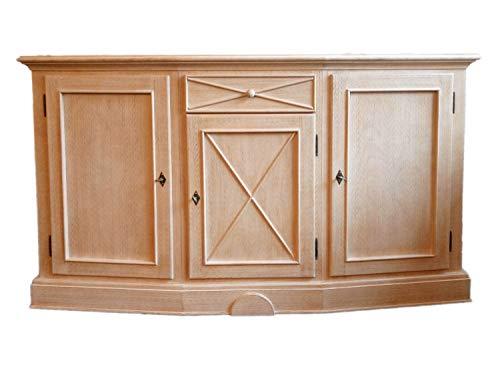 Kommode Sideboard Allegro mit Säulen 1 Schublade 3 Türen B 165 H 95 T 48 cm Pinie massiv karamell Farbe Pinie karamell