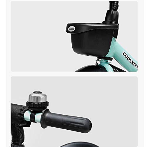GSDZSY - Children Kids Tricycle 3 Wheel Bike,High Carbon Steel Body, EVA Wheel, Seat And Handlebars Adjustable,2-6 Years,B  GSDZSY