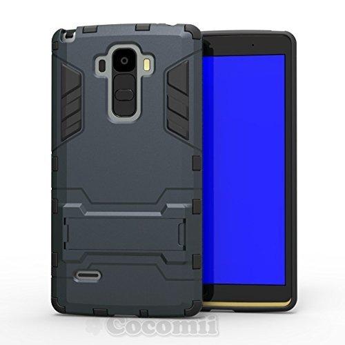 Cocomii Iron Man Armor LG G4 Stylus/G Stylo/G4 Note Hülle [Strapazierfähig] Taktisch Griff Ständer Stoßfest Gehäuse [Militärisch Verteidiger] Ganzkörper Case Schutzhülle for LG G4 Stylus (I.Black)