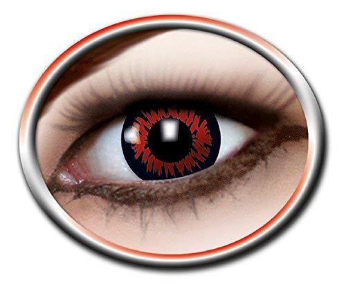 Eyecatcher Motivlinsen - farbige 3-Monats-Kontaktlinsen - red wolf (Red Wolf Kostüm Kontaktlinsen)
