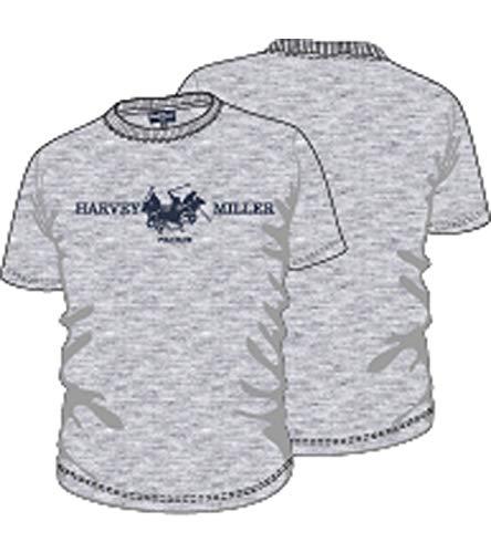 a2c0081b9 HARVEY MILLER POLO CLUB Shirt à Manches Courtes T-Shirt pour Hommes  Intemporel avec Impression