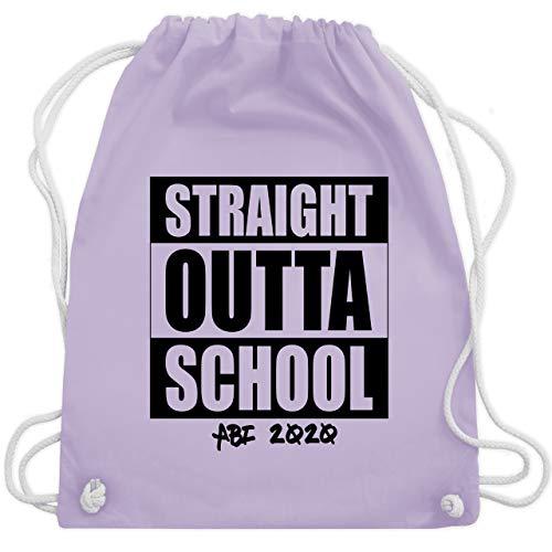 Shirtracer Abi & Abschluss - Abi 2020 Straight Outta School - Unisize - Pastell Lila - WM110 - Turnbeutel und Stoffbeutel aus Bio-Baumwolle