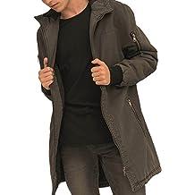 trueprodigy Casual Hombre marca Chaqueta Parka militar ropa retro vintage rock vestir moda con capucha deportivo slim fit designer cool urban fashion jacket color gris 3573104-0403