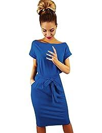 Beikoard Vendita Calda abbigliamento Vestito donna Mini abito da sera per  donna con maniche corte e 6929fb2a2b6