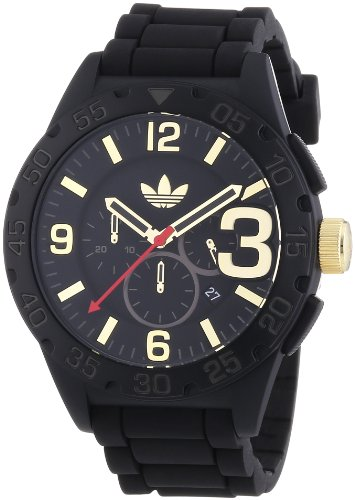 adidas-Newburgh-Reloj-de-cuarzo-para-hombre-con-correa-de-silicona-color-negro