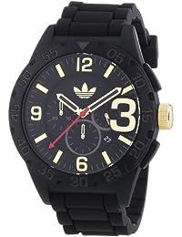 adidas  Newburgh - Reloj de cuarzo para hombre, con correa de silicona, color negro