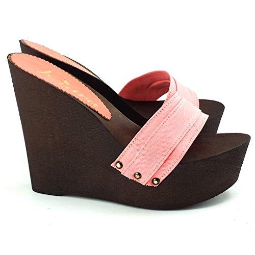 kiara shoes Chaussure avec LA Cale FEMME-KZ3101 Rose