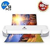 Plastificadora A4 A5 A7, ABOX OL141 Máquina de Laminadora Portátil en Caliente 300 mm/min, 2...