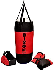 Toyshine Dixon Kids Polyester Boxing Kit with Gloves and Head Guard, Medium (30 Inches, Red)
