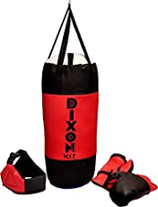 Toyshine Dixon Kids Polyester Boxing Kit with Gloves and Head Guard, Medium (30 Inches) - 6-10 Years, Red