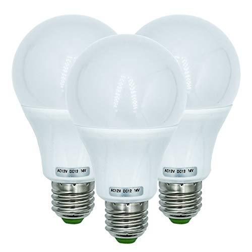 Lampadina LED Edison 7W Base filettata E27 570LM (equivalente 70W) Lampada a bassa tensione 12V illuminazione del sistema solare off-grid, barca, camper, bianco caldo 3000K 3-confezio