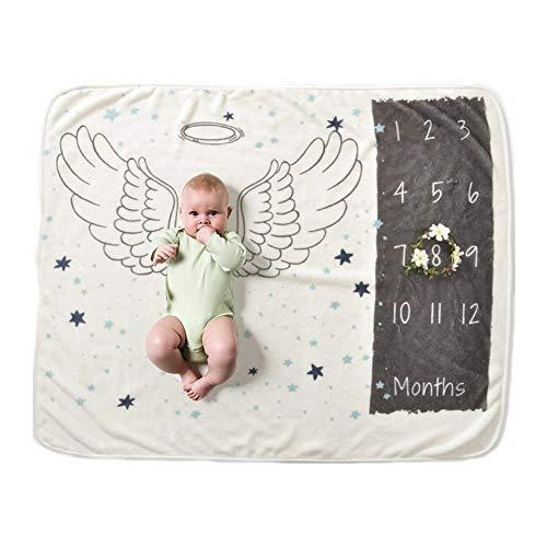 Nwhw Neugeborenen Baby Monatlichen Wachstum Milestone Decke Fotografie Requisiten Hintergrund Tuch Gedenken Teppich Mädchen Junge Decke Kinder.7 -