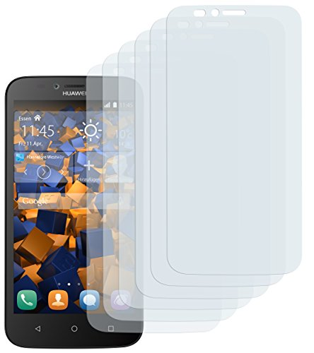 mumbi Schutzfolie kompatibel mit Huawei Y625 Folie klar, Bildschirmschutzfolie (6X)