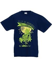 Camiseta Niños/Niñas El Sol Brilla, el Clima ES Dulce - Ropa de Verano