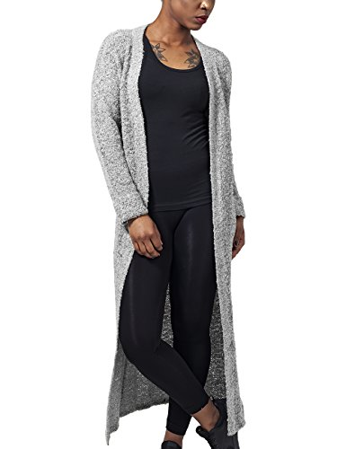Urban Classics Damen Cape Ladies Boucle Cardigan, Grau (Grey 111), X-Small (Damen Bouclé -)