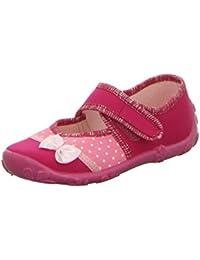 girlZ onlY Hausschuh Mädchen, Ballerina mit Klettverschluss Pink