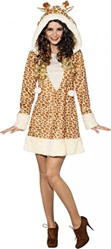 O9903-42-44 Sexy Giraffe Giraffen Kleid Kostüm ()