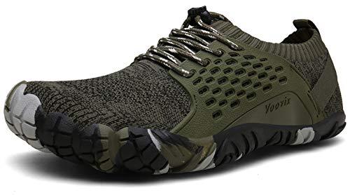 Barfuß-schuhe (Voovix Barfußschuhe Herren Damen Outdoor Fitnessschuhe Traillaufschuhe Atmungsaktive Minimalistische Laufschuhe(Grün,46))