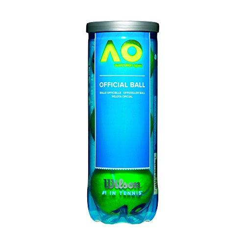 Wilson Tennisbälle, Australian Open, 3er Dose, für alle Beläge, gelb, WRT109800