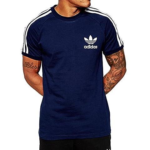 adidas California Short Sleeved T-Shirt, Men's, California Tee, blue, M