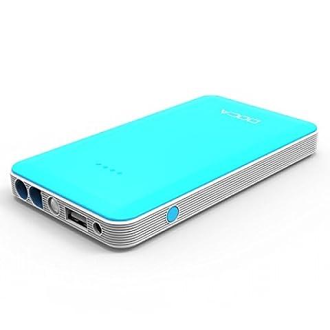 Ultra Edition ® 8000mAh bleu Portable Power Bank 12V voiture Jump Starter aussi pour une utilisation avec les téléphones portables et les appareils mobiles Ultra Slim et Compac
