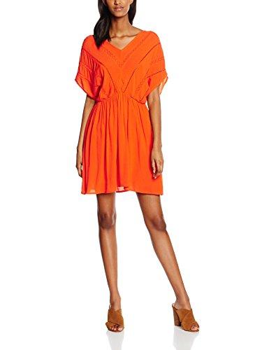 VERO MODA Damen Kleid Vmcrinkla S/S Short Dress, Orange, 36 (Herstellergröße: S) (21, Frauen Für Kleidung Forever)