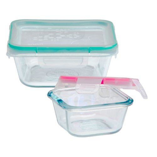 Snapware 4-Piece Total Solution Food Storage Set, Glass by Snapware