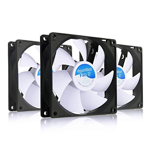 AAB Cooling Super Silent Fan 9 - Un Silencioso y Muy Efectivo Ventilador 92mm | Base Ventilador | Fan Cooler 9cm | Cooler 12V | 58m3/h | 1600 RPM - Conjunto de 3 Piezas
