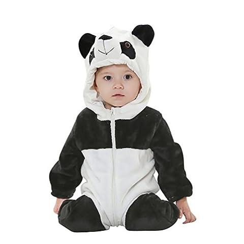 Bébé Panda - MissFox Unisexe Bébé Costume Hoodie Grenouillère Animal