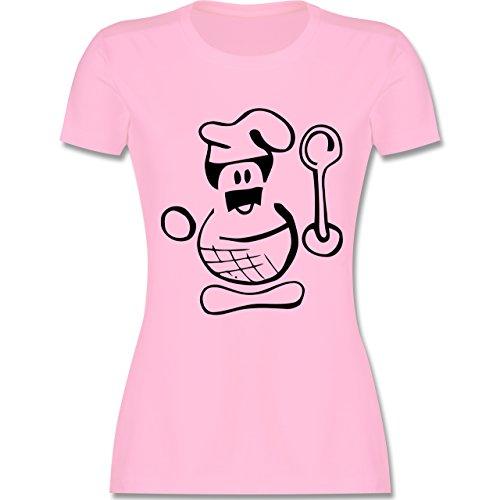 Küche - Küchenchef - tailliertes Premium T-Shirt mit Rundhalsausschnitt für Damen Rosa
