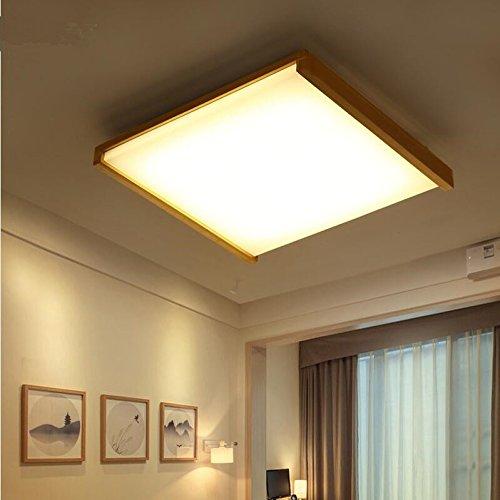 GQLB 48W LED giapponese di luce da soffitto lampada in legno luci (640*600*100mm), tatami 3 luce di