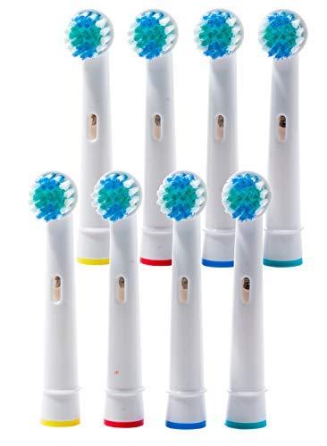 8 Aufsteckbürsten kompatibel für Braun Oral-B Zahnbürsten el. Zahnbürsten -