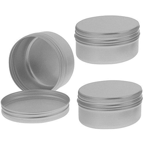 Schraubdose 50ml, Alu-Tiegel aus Aluminium, m. Schraub-Deckel, leer, Kosmetex Kosmetik-Dose, Cremedose, 3× 50 ml