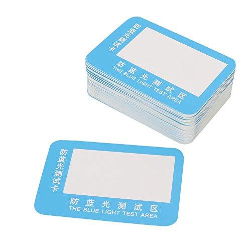 Huakii Blaulichttest, 50 Teile/Satz Polarisierte Sonnenbrille Testkarte Überprüfen Gläser Testpapier Zubehör